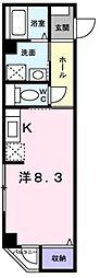香川県高松市福田町の賃貸マンションの間取り