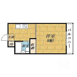 アミニティーハイツ田村[1階]の間取り