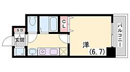 スワンズ神戸三宮イースト[3階]の間取り