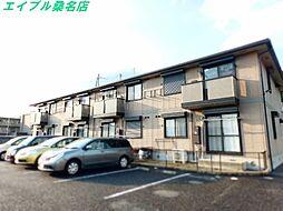 三重県桑名市大字上野の賃貸アパートの外観