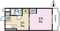 メゾンMORI[306号室]の間取り