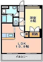 アビスタ北花田[3階]の間取り
