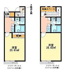 兵庫県姫路市白浜町宇佐崎中1丁目の賃貸アパートの間取り