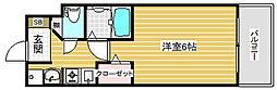 エステムコート神戸三宮山手センティール[5階]の間取り