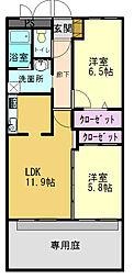 グリーンコート加古川2番館[102号室]の間取り