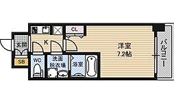 S−RESIDENCE新大阪WEST[4階]の間取り