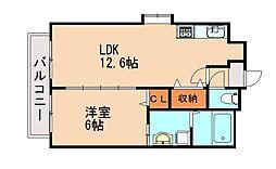 井相田アーバンスクエア[5階]の間取り