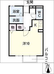 ラ・メールTAKASAGOA棟[1階]の間取り