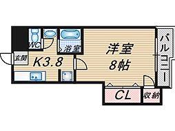 冨士スカイマンション[606号室]の間取り