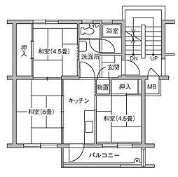 UR豊四季台[85-202号室]の間取り