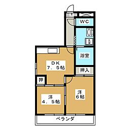 レジデンスITAZU[1階]の間取り