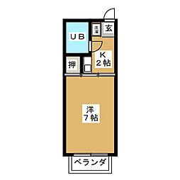 コーポサクシード[2階]の間取り
