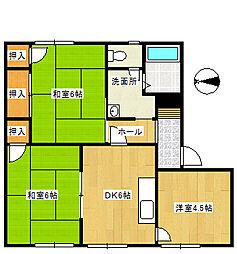 メゾントレビII[105号室]の間取り