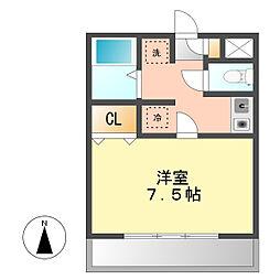愛知県北名古屋市加島新田北浦の賃貸アパートの間取り