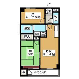 サバトシティ福田町[2階]の間取り