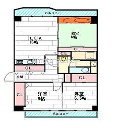 メゾン千里丘L棟[5階]の間取り