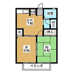 エミールA.B[2階]の間取り
