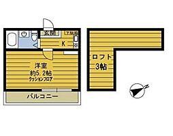 東京都江戸川区南小岩7丁目の賃貸アパートの間取り