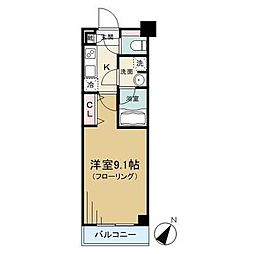 JR総武線 大久保駅 徒歩8分の賃貸マンション 4階1Kの間取り