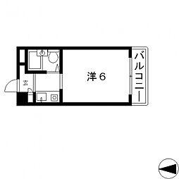 ハイツ八戸ノ里[305号室号室]の間取り
