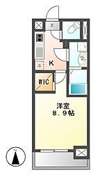 メイプルコート朝岡[6階]の間取り