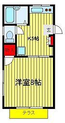 メゾン・ド・ヒラヤマ A棟 B棟[A101号室]の間取り