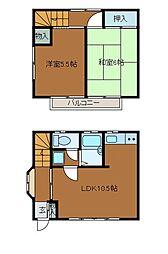 [テラスハウス] 東京都町田市原町田2丁目 の賃貸【東京都 / 町田市】の間取り