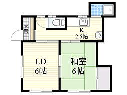 新森アパート[201号室]の間取り