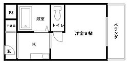 アバンティ貝塚II番館[335号室]の間取り