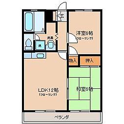 セプトフラット[2階]の間取り