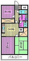 ゆざわマンション[202号室]の間取り