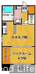 ウィステリア 桜坂ヒルズ[6階]の間取り