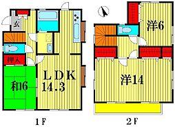 [一戸建] 千葉県松戸市上矢切 の賃貸【/】の間取り