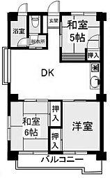 コーポ加藤[2階]の間取り
