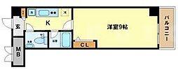 HF阿波座レジデンス[8階]の間取り