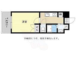No122 ETERNITY NISSEKI STREET福岡日赤通り 9階1Kの間取り
