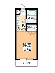 ステーションヴィラ鶴ヶ島[104号室]の間取り