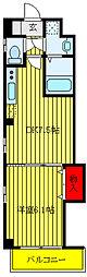 JR山手線 田端駅 徒歩8分の賃貸マンション 2階1DKの間取り