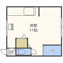ベルビュートワ[2階]の間取り