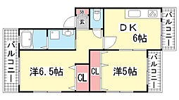 コーベコーポラス[1階]の間取り