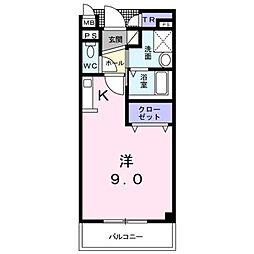 ファミール[302号室]の間取り