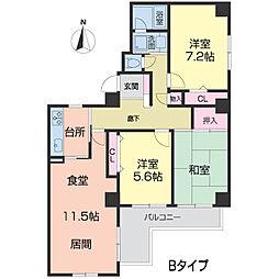 メゾンドール広田[0302号室]の間取り