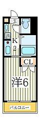 パルテール江戸川台[3階]の間取り