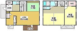神鉄公園都市線 南ウッディタウン駅 バス19分 学園7丁目下車 徒歩2分 3LDKの間取り
