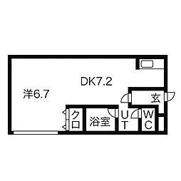 エフォート麻生[2階]の間取り