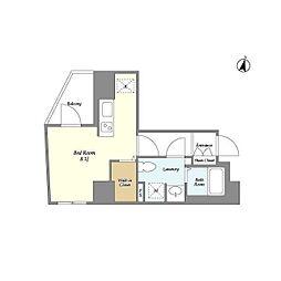 都営大江戸線 春日駅 徒歩3分の賃貸マンション 3階ワンルームの間取り