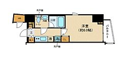 JR山手線 恵比寿駅 徒歩15分の賃貸マンション 8階1Kの間取り