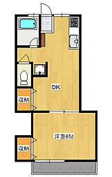 増井ハイツ[3階]の間取り
