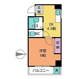 コーポ葵[3階]の間取り