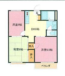 埼玉県さいたま市浦和区駒場1丁目の賃貸アパートの間取り